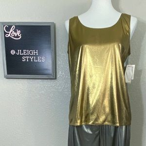 Vintage 80's 4-Way Reversible Silver Gold Tank Top